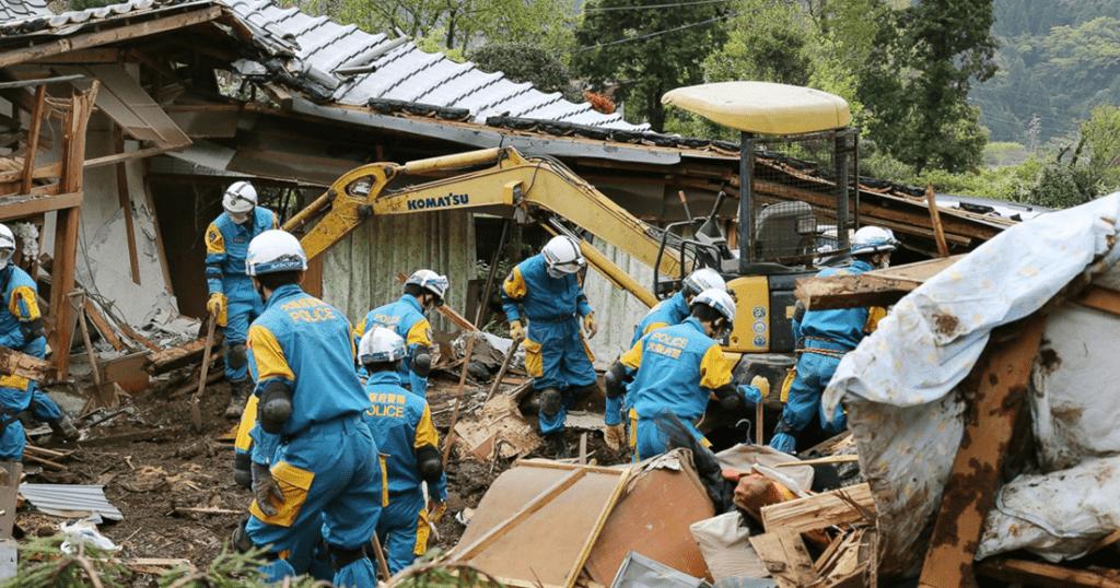 une japon tremblement