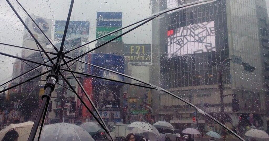 une japon pluie
