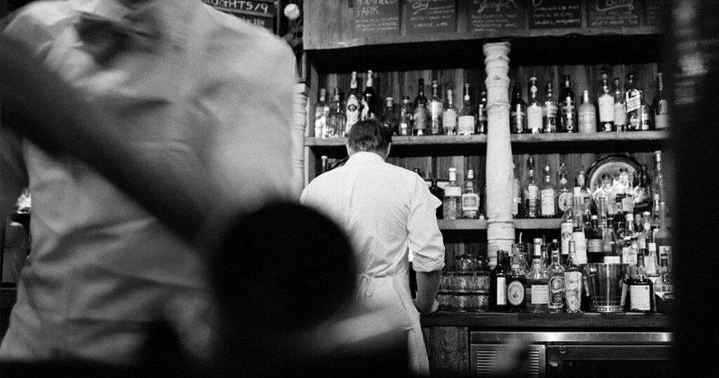 une bar seul