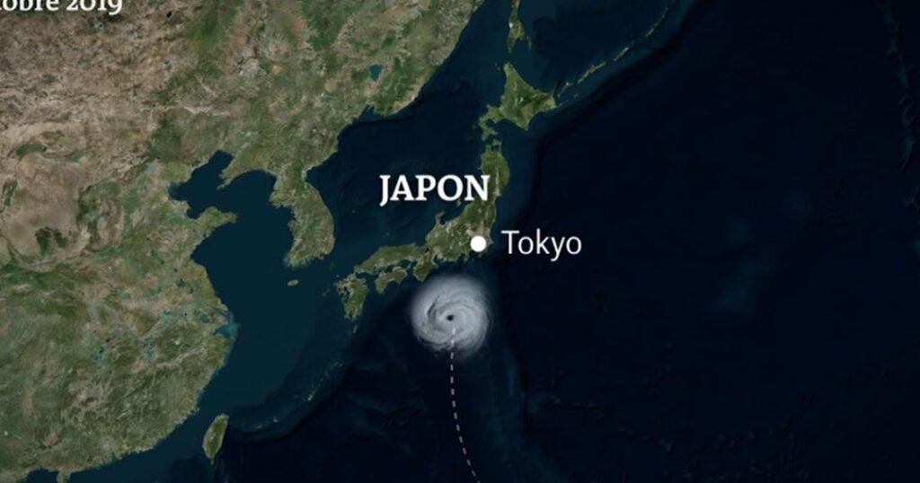 une japon typhon