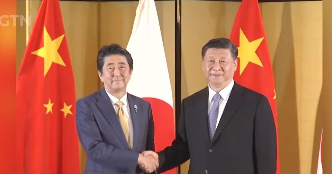 Shinzo Abe et Xi Jinping