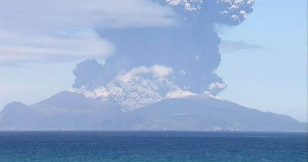 une volcan eruption