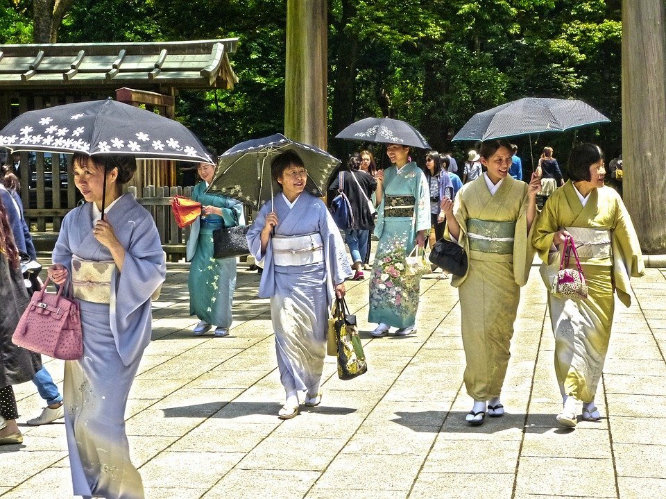 Japonaises en yukata