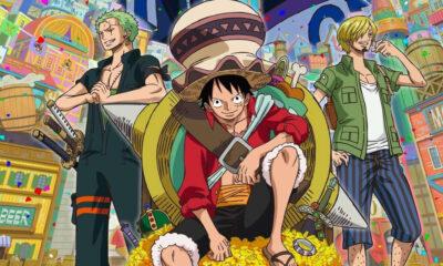Zoro, Luffy et Sanji dans One Piece