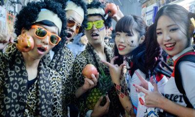 Halloween au Japon / Déguisement en zombie et en jeune femme
