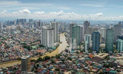 Manille, la capitale des philippines, image aérienne