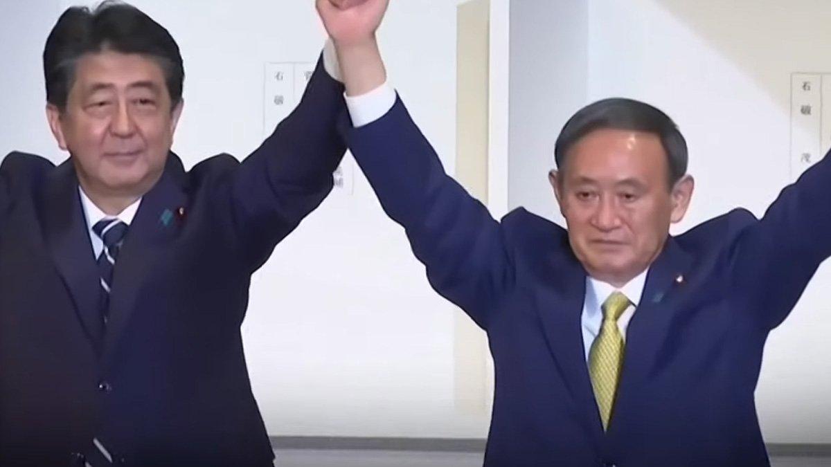 Shinzo Abe et Suga Yoshihide