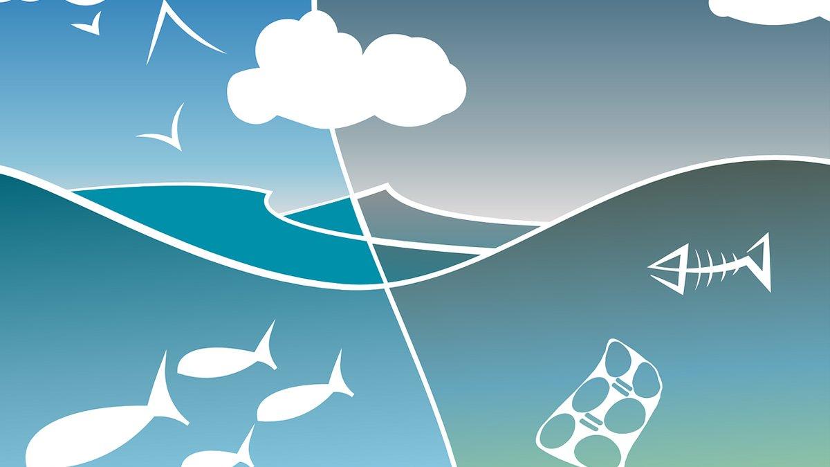 Croquis de la pollution des oceans