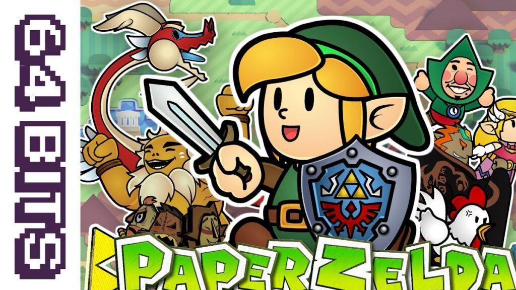 Paper Zelda Mario