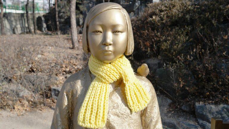 Statue dune femme de reconfort en Coree du Sud