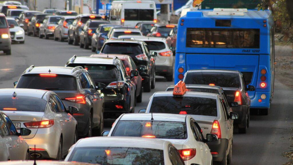 Traffic de voitures