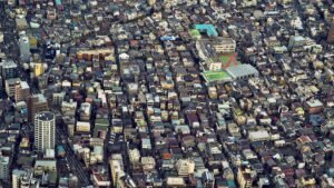 prix du foncier baisse au Japon