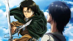Attaque des titans Eren et Levi