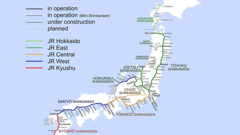 Carte du Japan Rail Pass