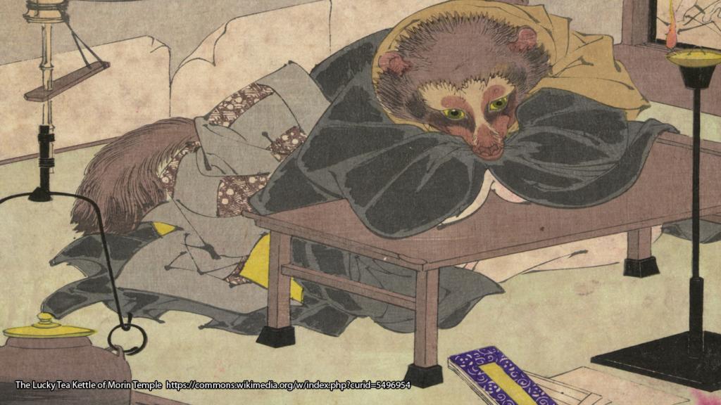 Illustration de la legende du Tanuki